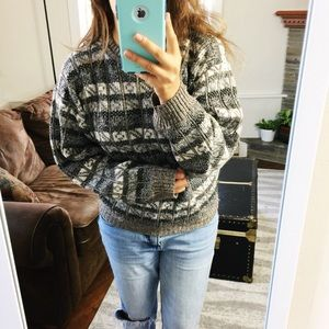 Vintage | Neutral Autumn Vibes Grandpa Sweater Med